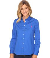 U.S. POLO ASSN. - Solid Single Pocket Long Sleeve Shirt