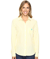 U.S. POLO ASSN. - Classic Button Front Poplin Striped Woven Shirt