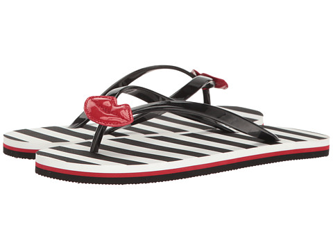 Alice + Olivia Carly - Black Rubber/Red Patent