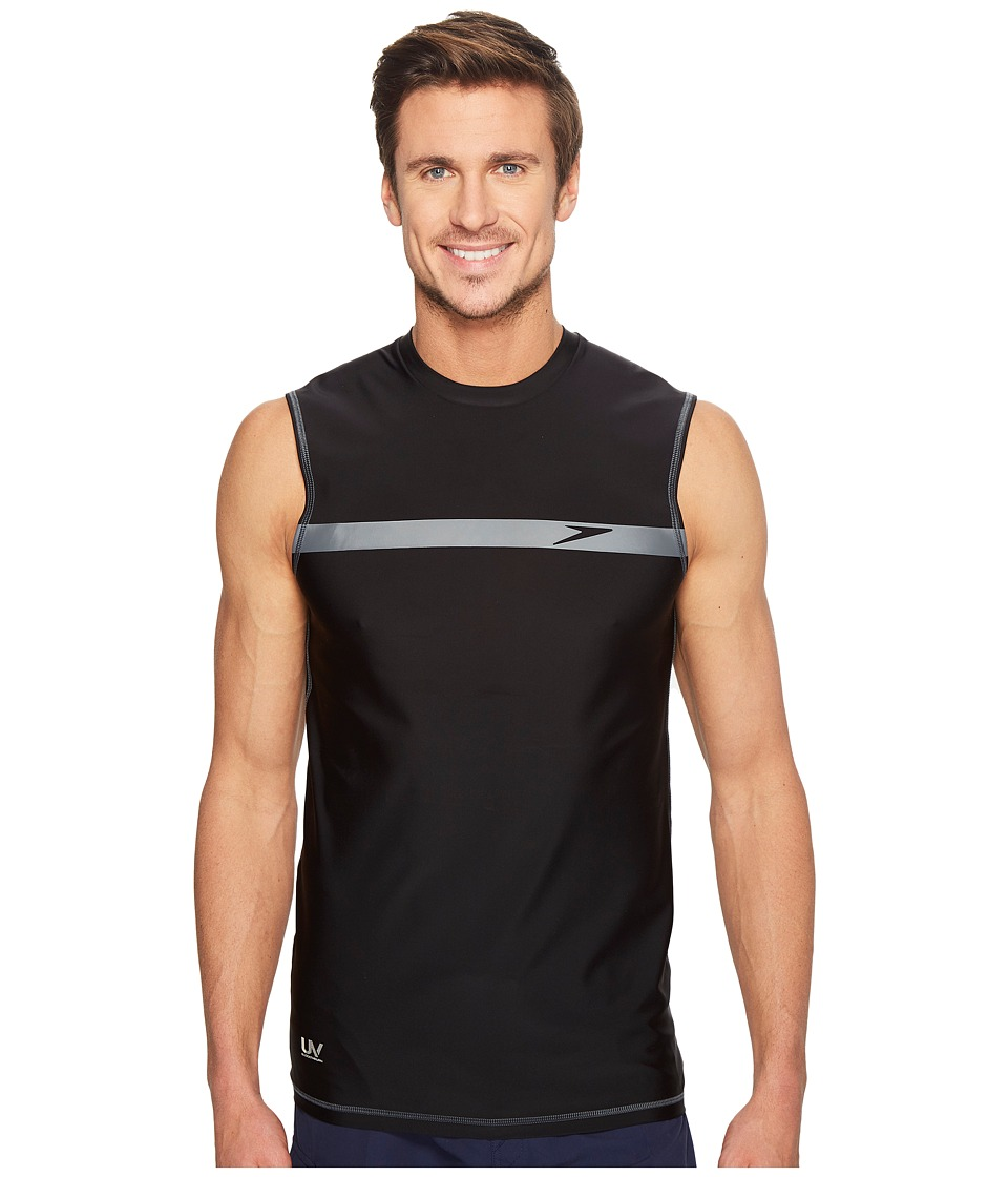 Speedo Startline Sleeveless Rashguard (Black/Black) Men
