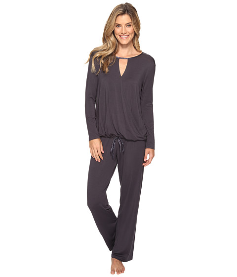 Midnight by Carole Hochman Modal Long Sleeve PJ - Grey