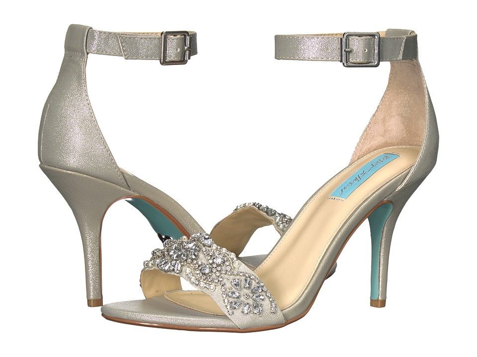 Blue by Betsey Johnson - Gina (Silver) Women's 1-2 inch h...