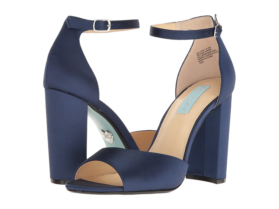 Blue by Betsey Johnson Carly (Navy Satin) High Heels