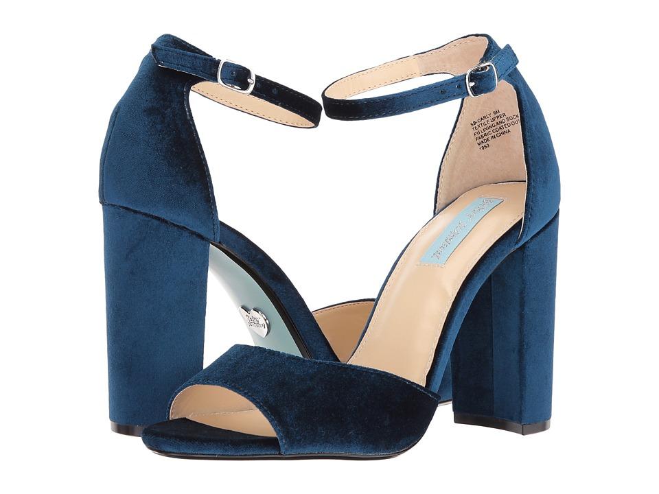 Blue by Betsey Johnson Carly (Blue Velvet) High Heels