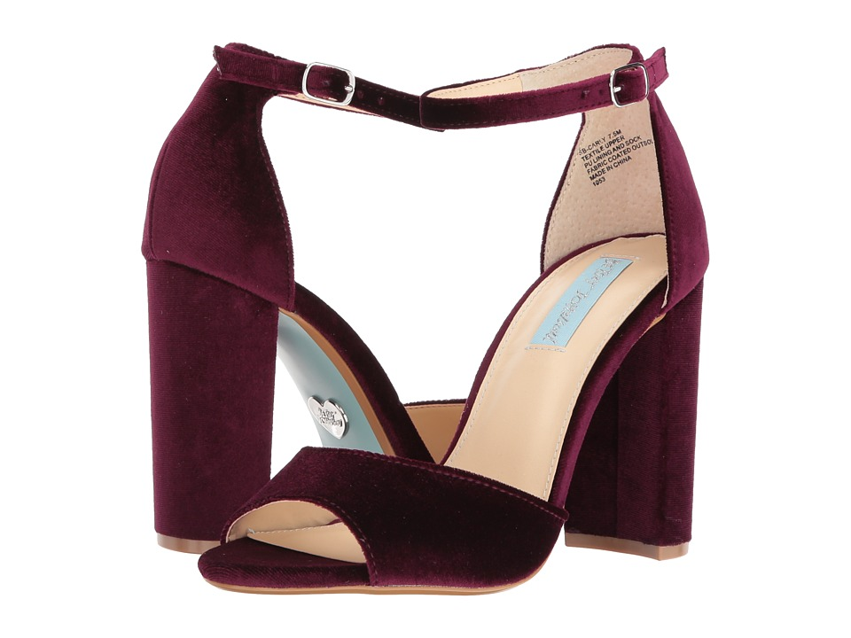 Blue by Betsey Johnson Carly (Burgundy Velvet) High Heels