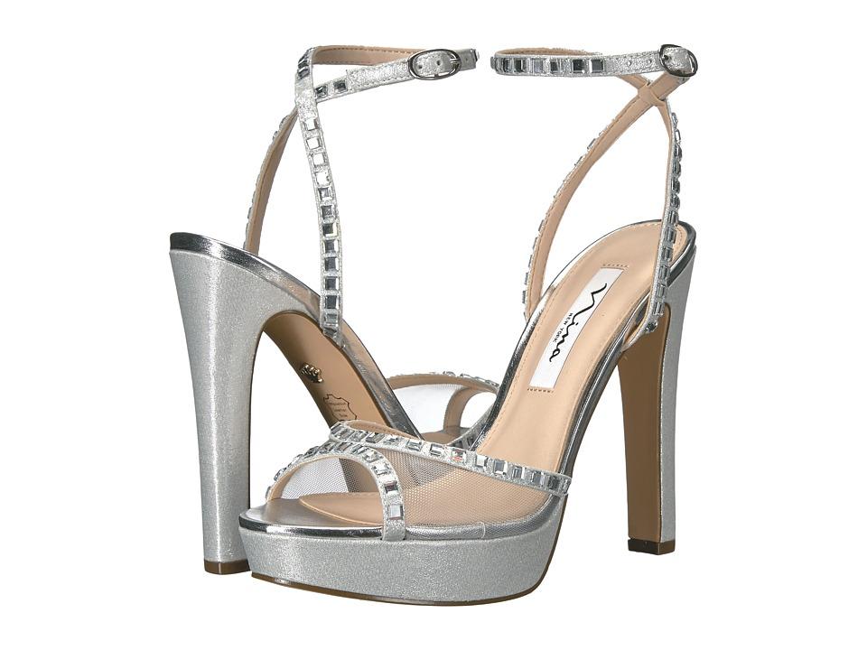 Nina Myrna (Silver/Silver) High Heels