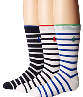 Polo Ralph Lauren - Nautical 3-Pack - Tipped Stripe (Toddler/Little Kid)
