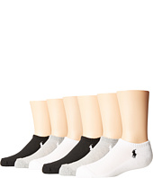 Polo Ralph Lauren - Mesh 1/2 Cushion Low Cut 6-Pack (Toddler/Little Kid)
