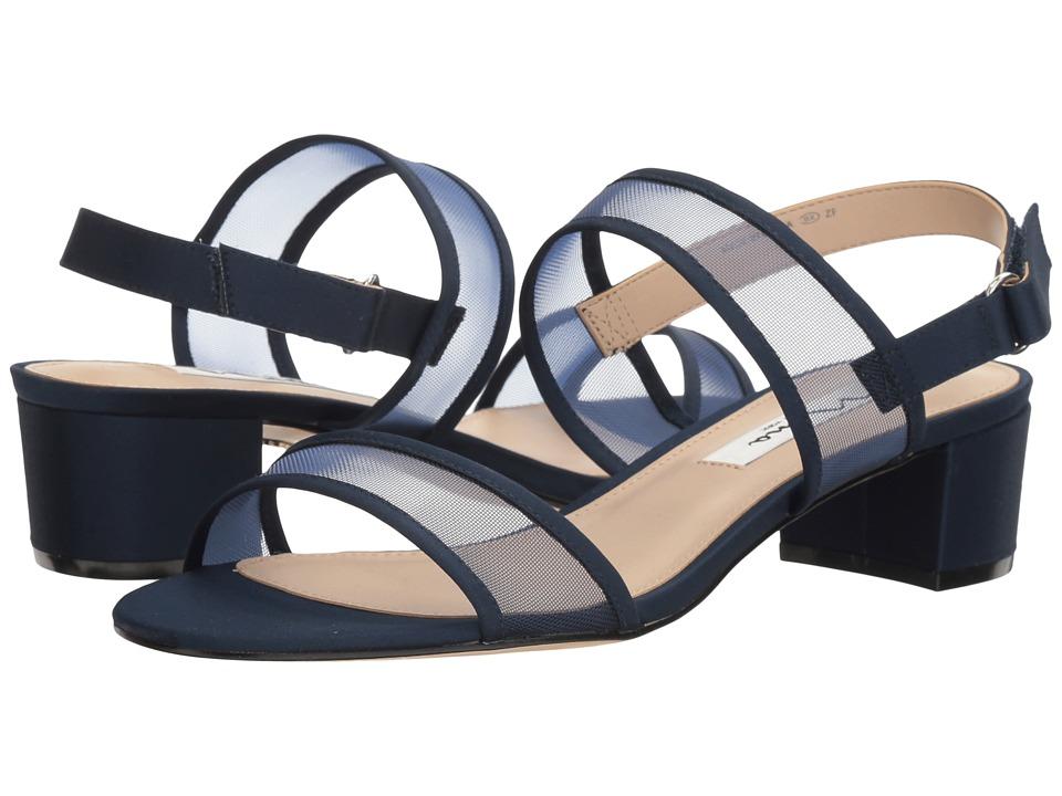 Nina Ganice (New Navy/Navy Luster Satin/Mesh) Sandals