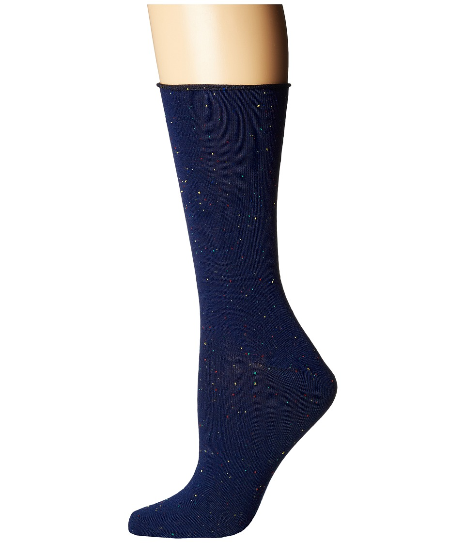 Richer Poorer - Helena Speckle (Navy Speckle) Womens Crew Cut Socks Shoes