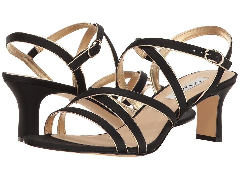 Nina Genaya (Black/Soft Gold Reflective Suedette) High Heels