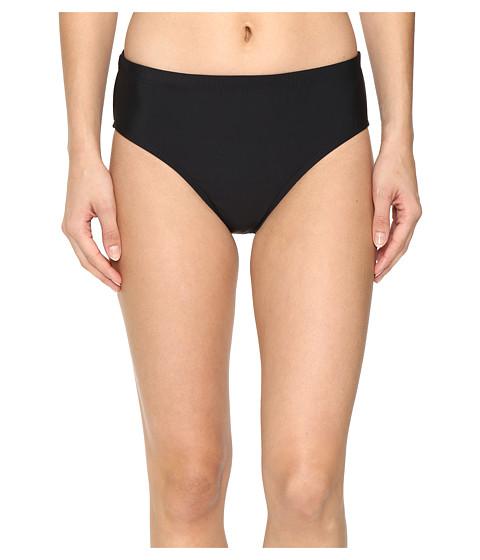 Athena - Solids Mid Waist Pants (Black) Women's Swimwear