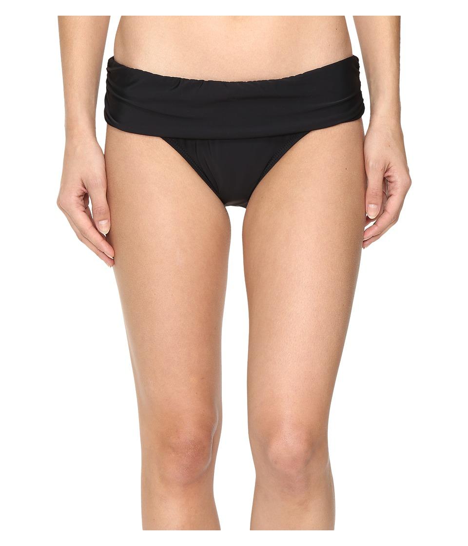 Athena Cabana Solids Lani Banded Bikini Bottom (Black)