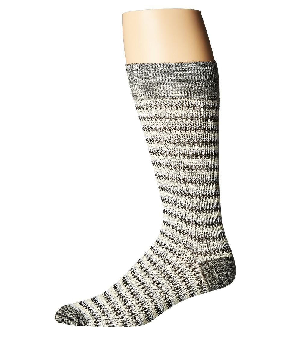 Richer Poorer - Lobos (White/Black) Mens Crew Cut Socks Shoes