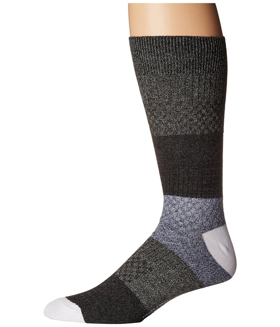 Richer Poorer - Gilgamesh (Heather Grey/White) Mens Crew Cut Socks Shoes