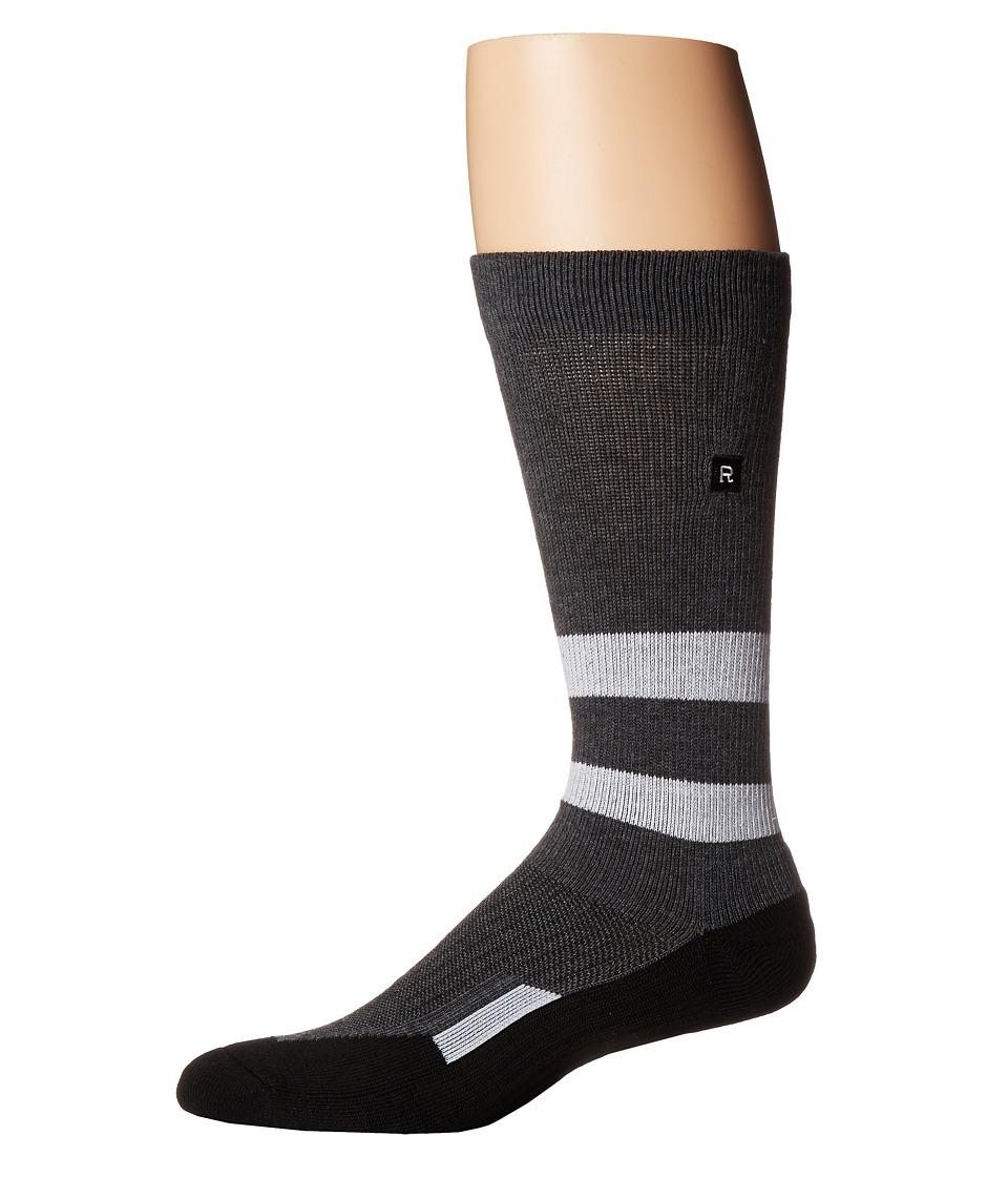 Richer Poorer - Leon Athletic (Charcoal/White) Mens Crew Cut Socks Shoes