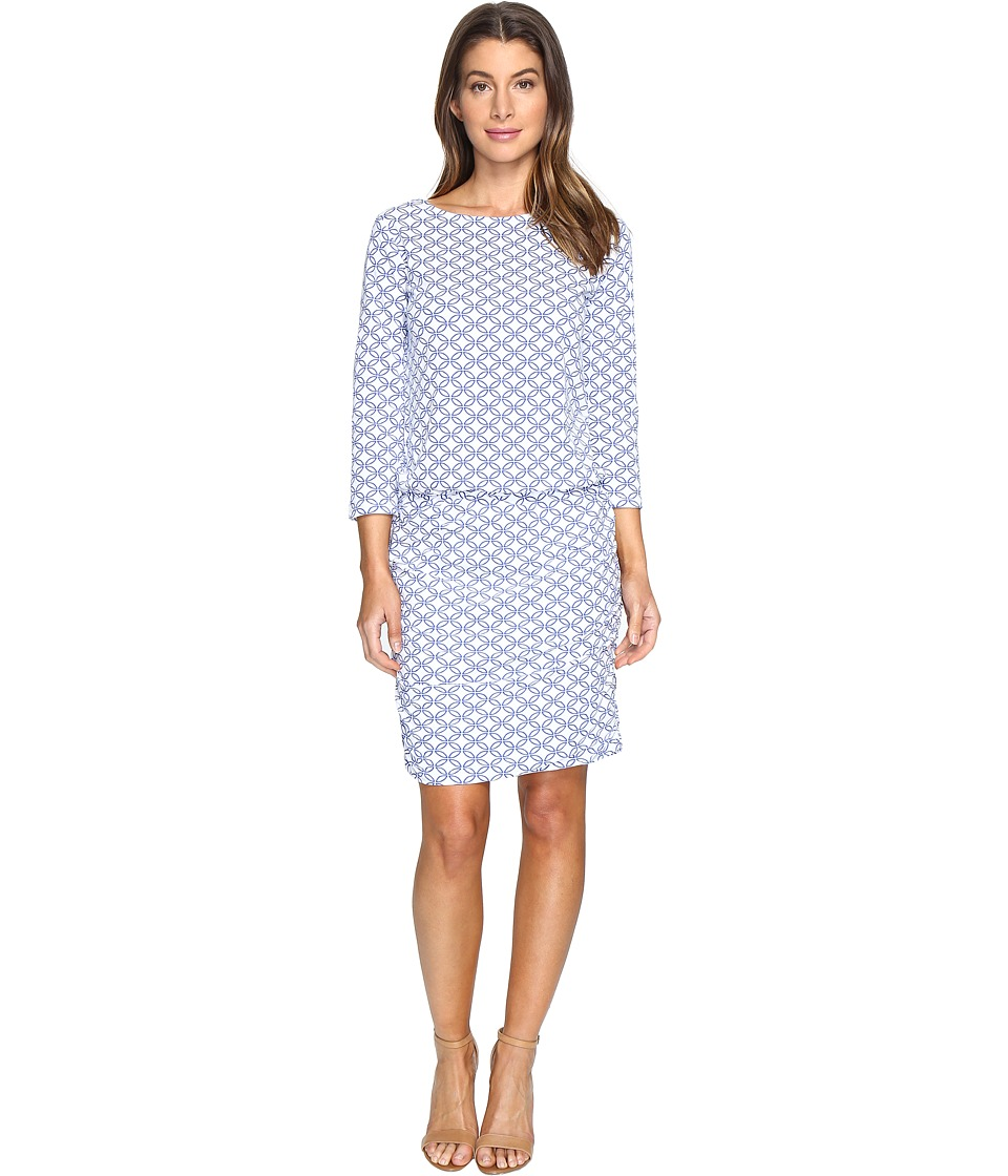 Hatley Boat Neck Ruched Dress (Cross Hatch) Women