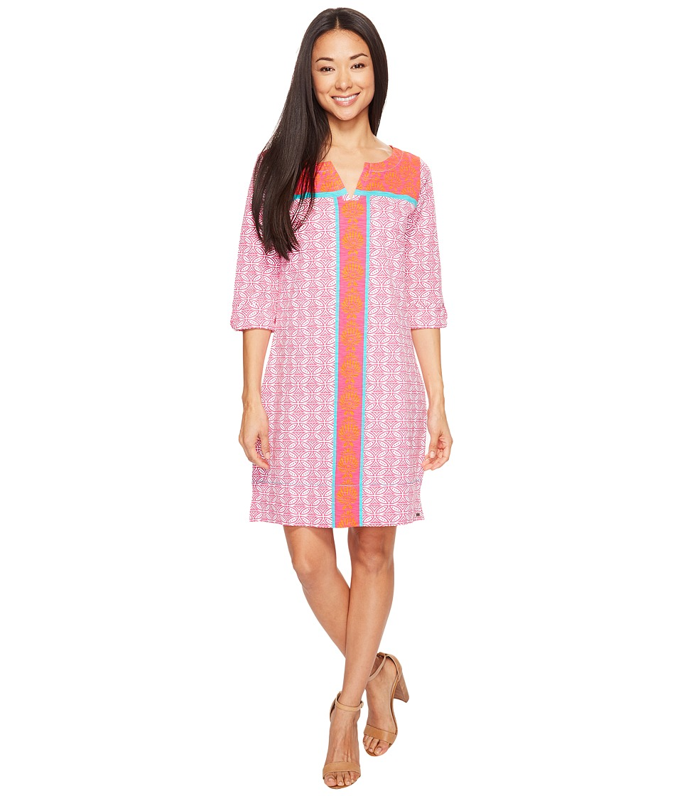 Hatley Peplum Sleeve Dress (Cross Hatch Tropics) Women