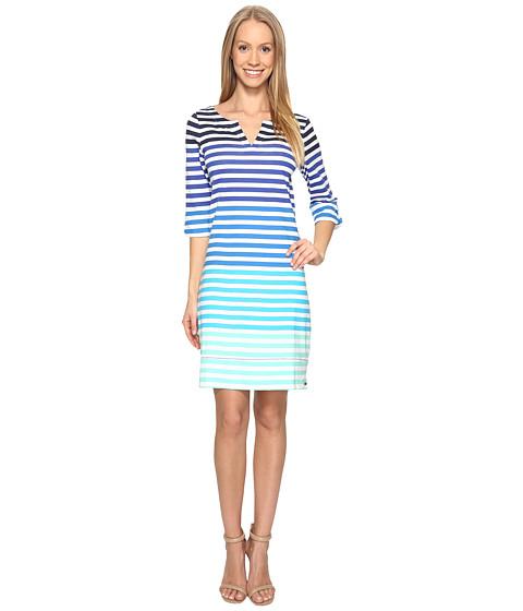 Hatley Peplum Sleeve Dress - Clearwater Stripes