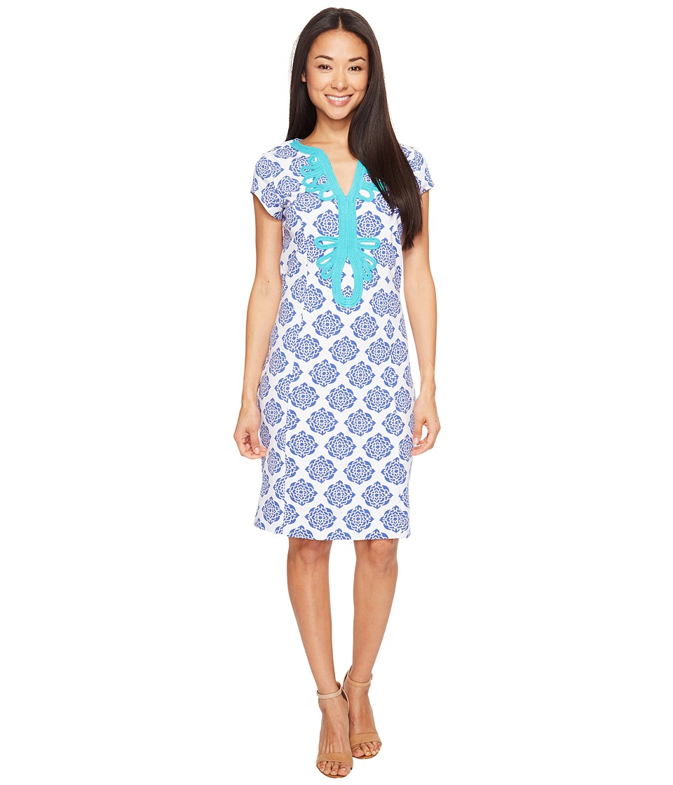 Hatley Ponte Dress (Henna Floral) Women
