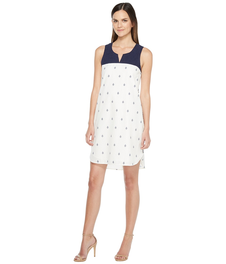Hatley Embroidered Notch Neck Dress (Mini Porcelain) Women