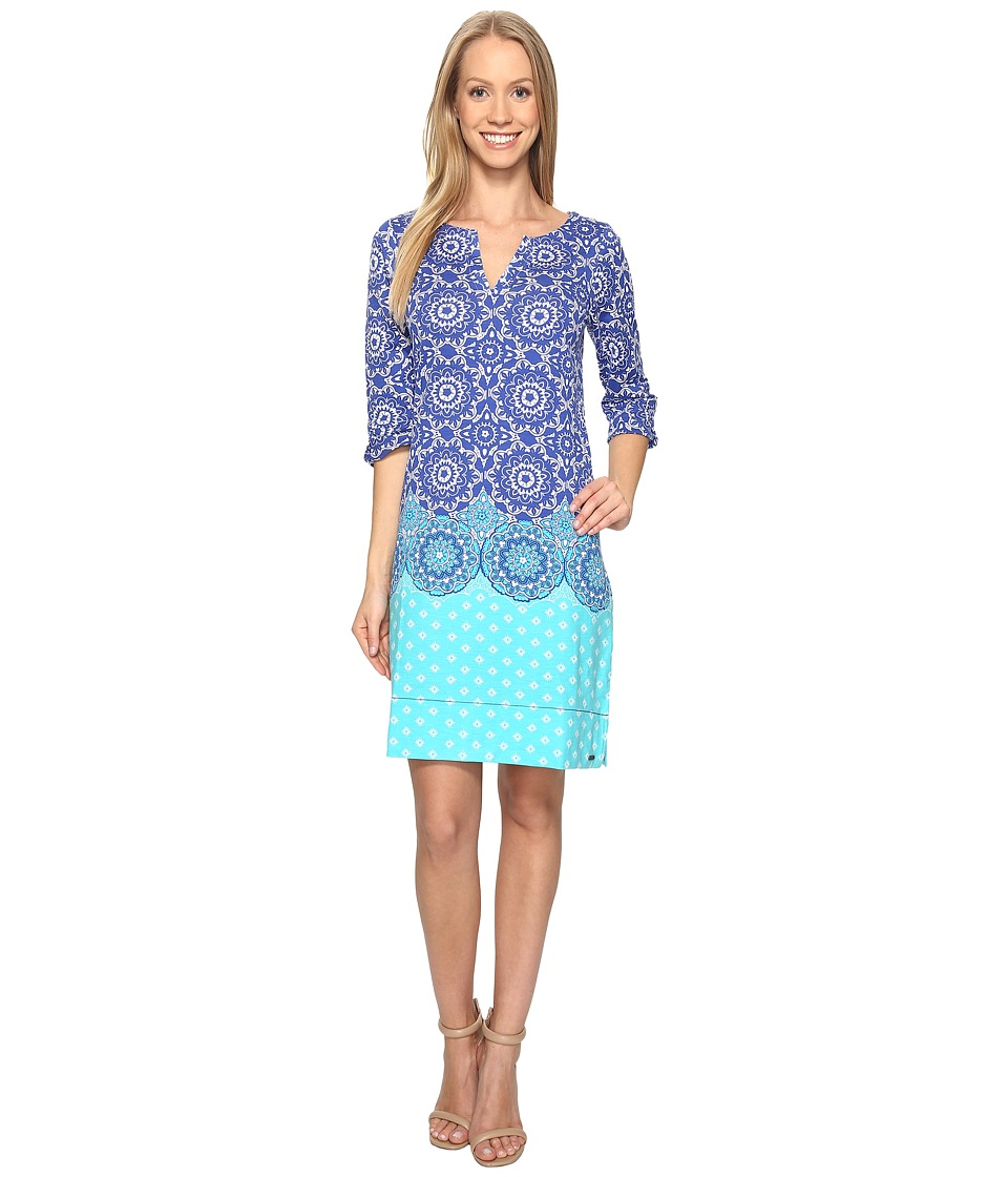Hatley Peplum Sleeve Dress (Clearwater Mandella) Women