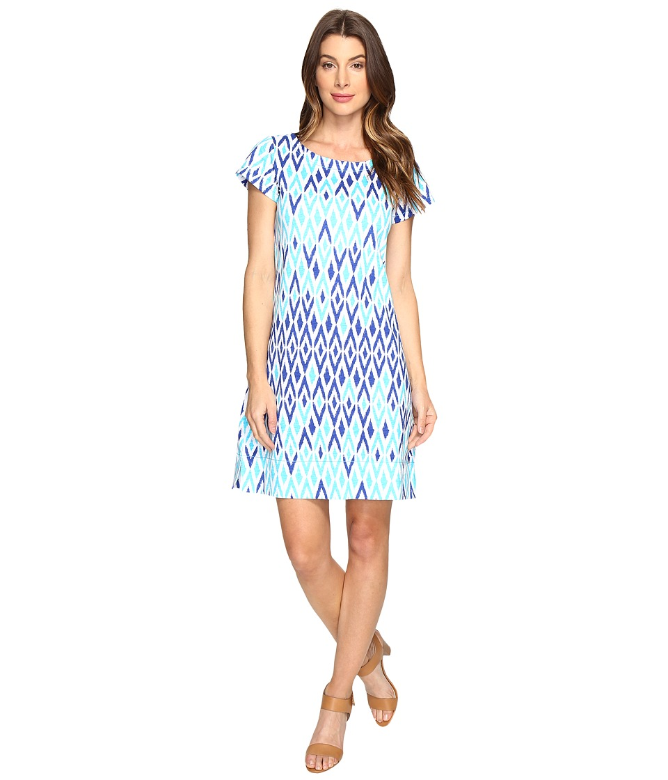Hatley - Tee-Shirt Dress (Sunbleached Ikat Clear) Womens Dress
