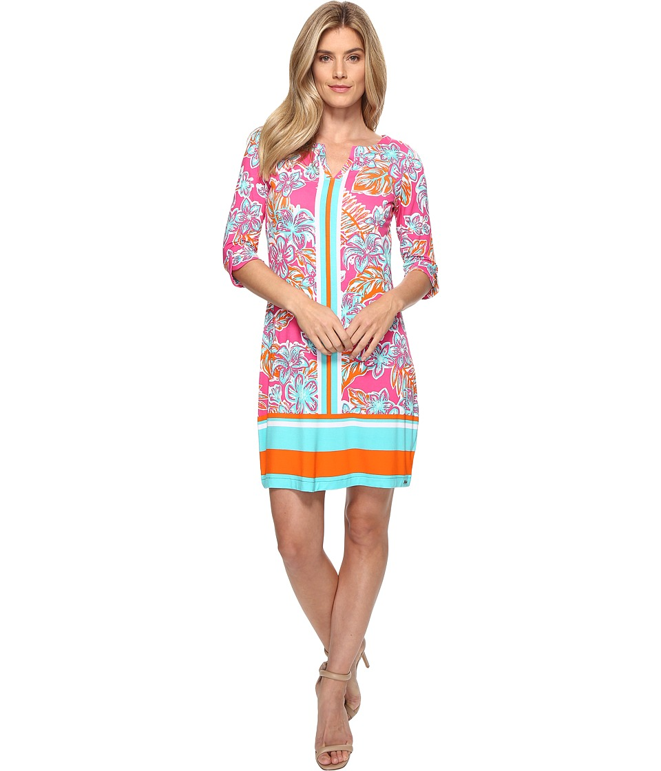 Hatley - Peplum Sleeve Dress (Kauai Floral Tropics) Womens Dress