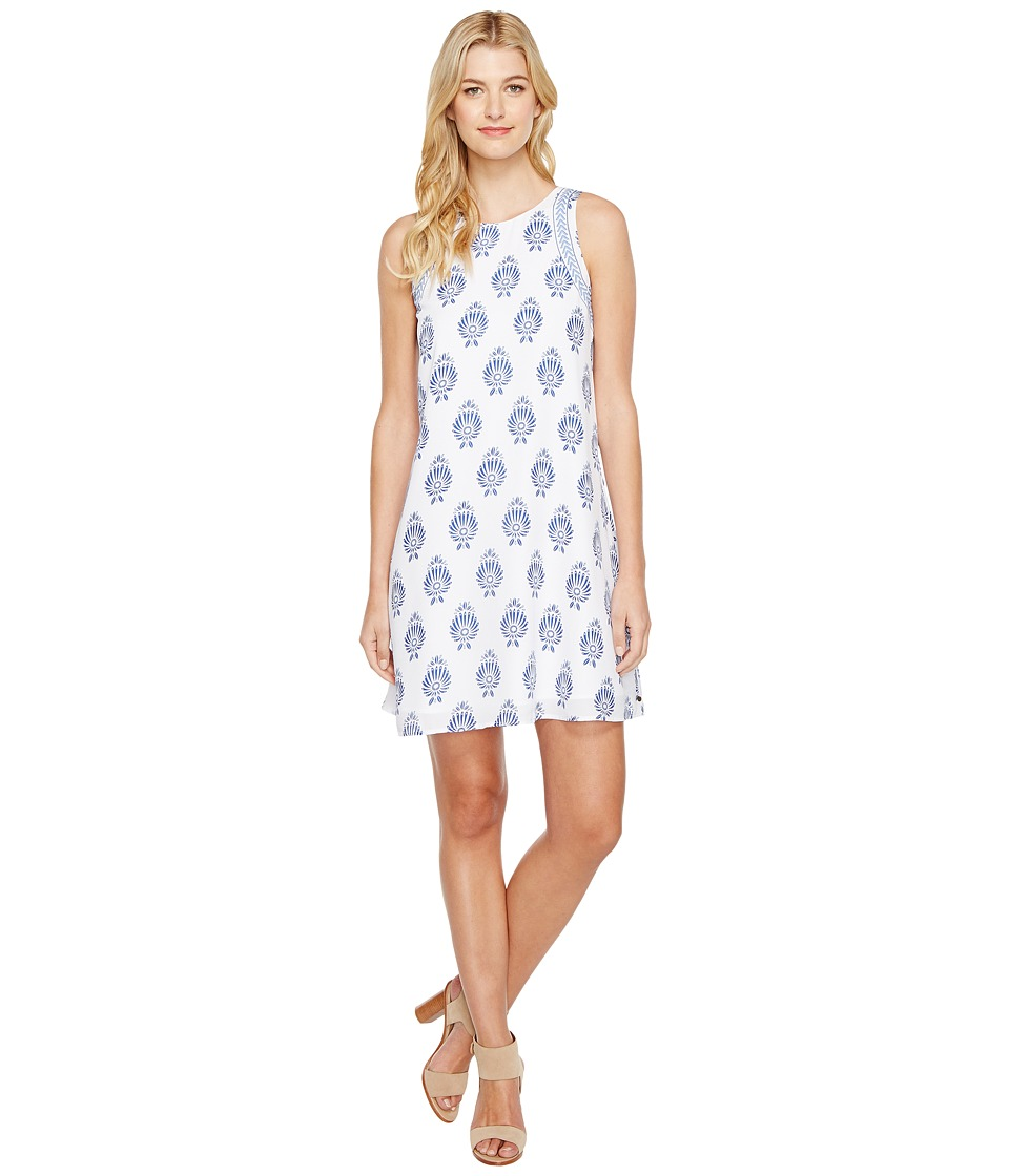 Hatley - Trapeze Dress (Porcelain Navy/White Floral) Womens Dress