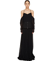 Vera Wang - Off the Shoulder Draped Gown with Peplum