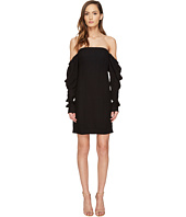 Vera Wang - Off the Shoulder Shift Dress with Draped Sleeve