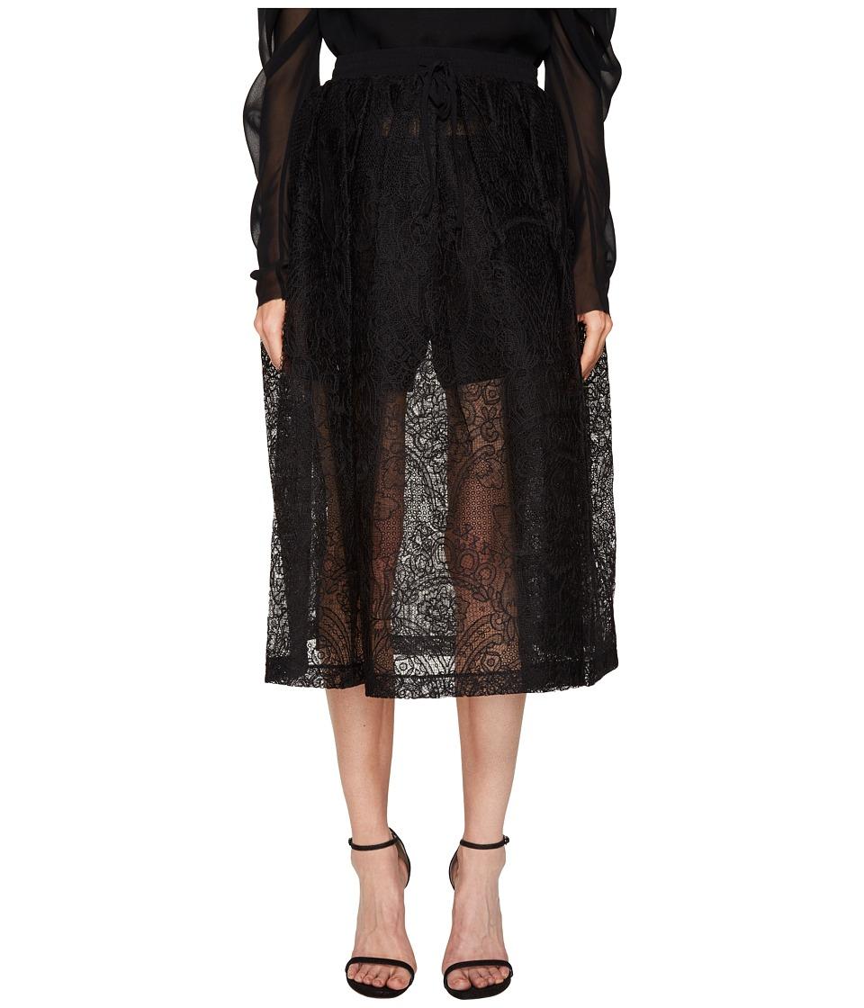 Vera Wang - Mid Calf Skirt with Draw Cord Waistband
