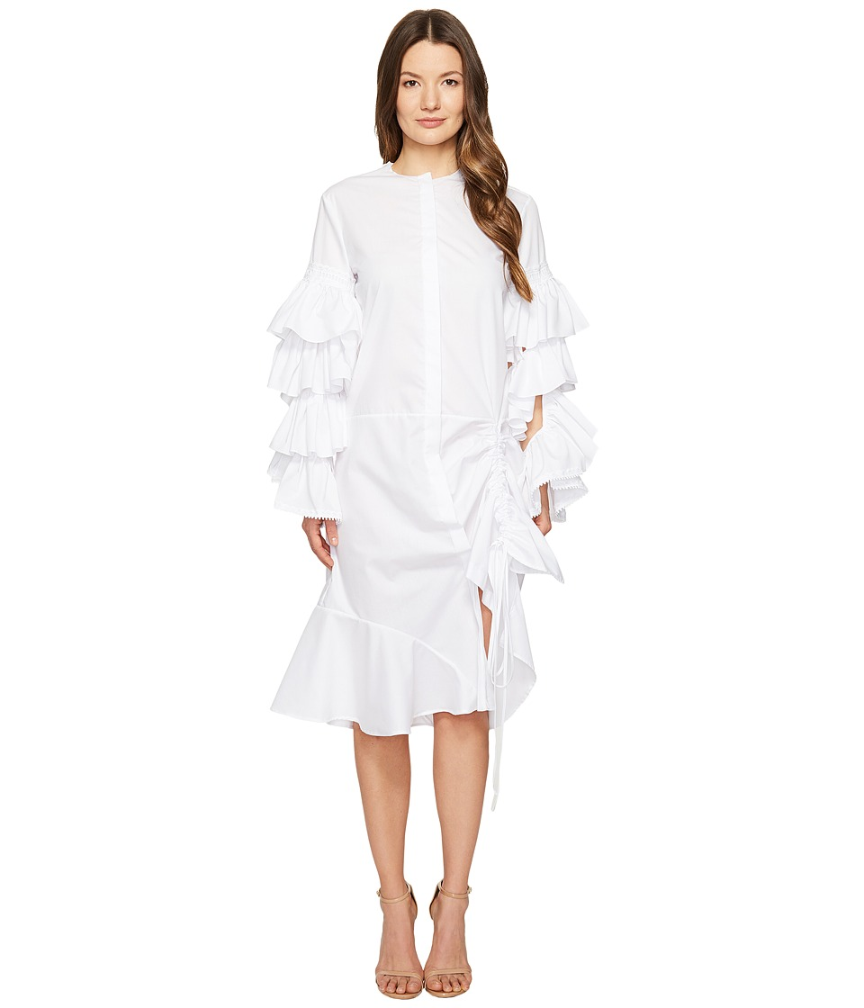 Preen by Thornton Bregazzi - Wren Adjustable Ruffle Sleeve Shirtdress