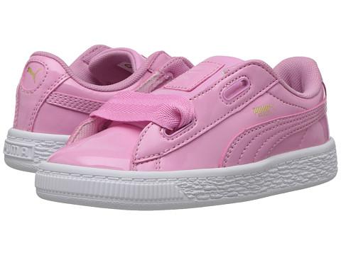 Puma Kids Basket Heart Patent (Toddler) - Prism Pink/Prism Pink