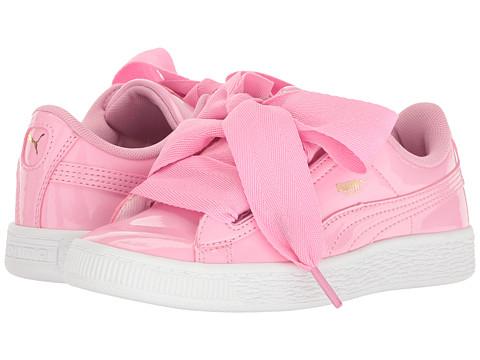 Puma Kids Basket Heart Patent (Little Kid/Big Kid) - Prism Pink/Prism Pink