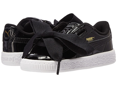 Puma Kids Basket Heart Patent (Toddler) - Puma Black/Puma Black