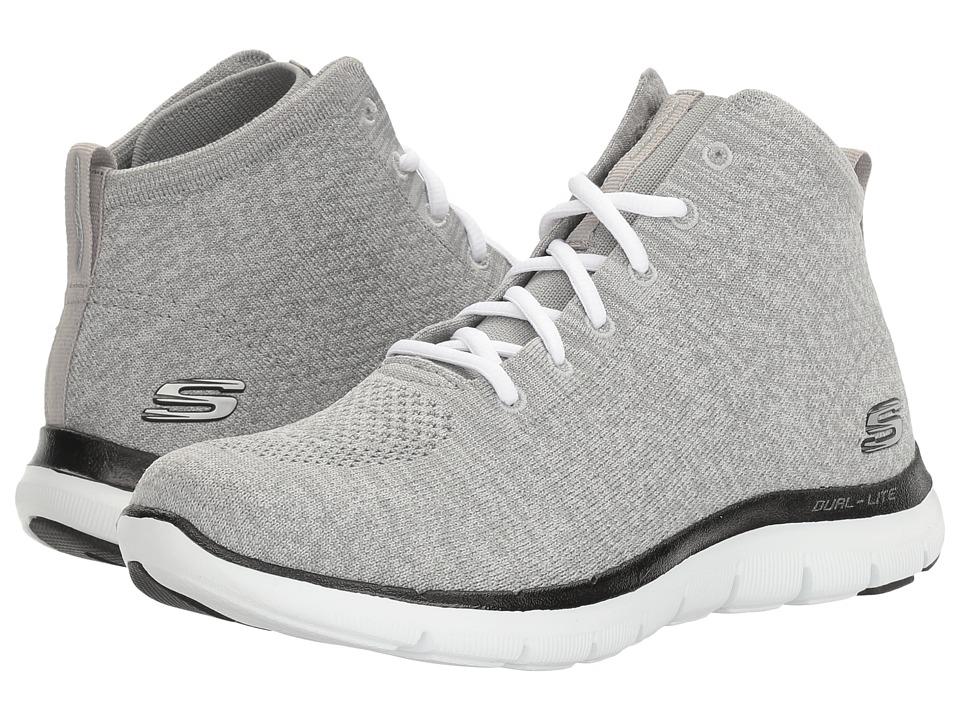 Skechers Flex Appeal 2.0 - Chukka (Light Gray/Black) Wome...
