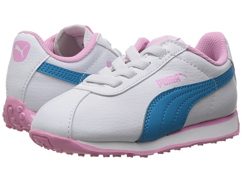 Puma Kids Turin AC (Toddler) - Puma White/Hawaiian Ocean