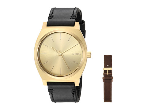 Nixon The Time Teller Pack x The Double Strap Pack Collection - All Gold/Black/Brown