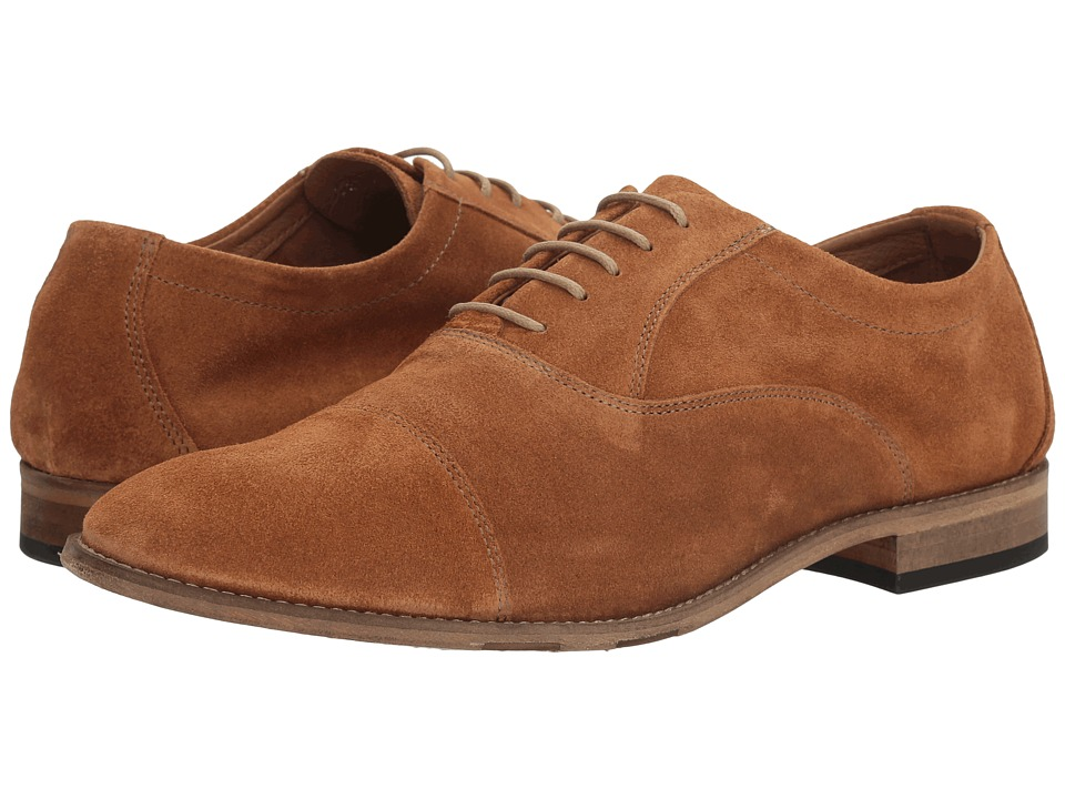 Bacco Bucci - Nardi (Cognac) Mens Lace Up Cap Toe Shoes