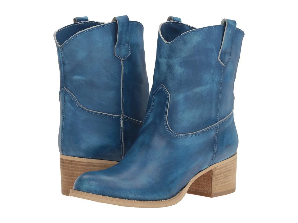 Massimo Matteo Low Cowboy Boot (Blue) Women