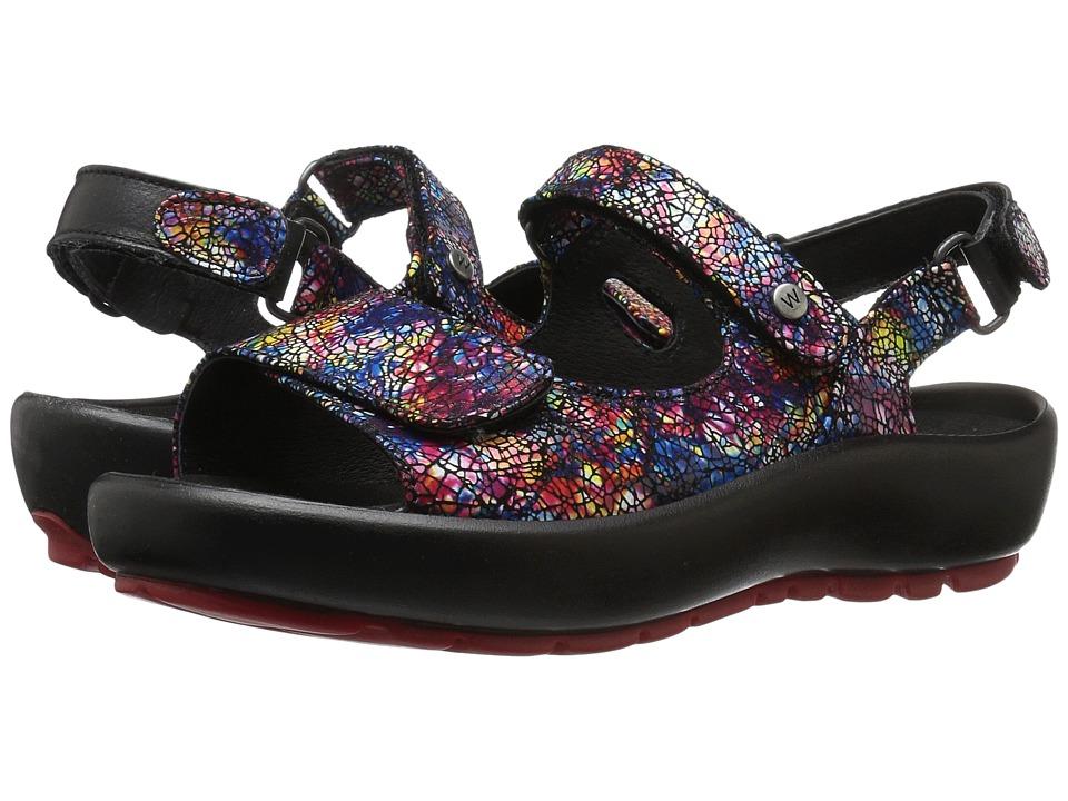 Wolky - Rio (Multi Black Crash) Women's Sandals