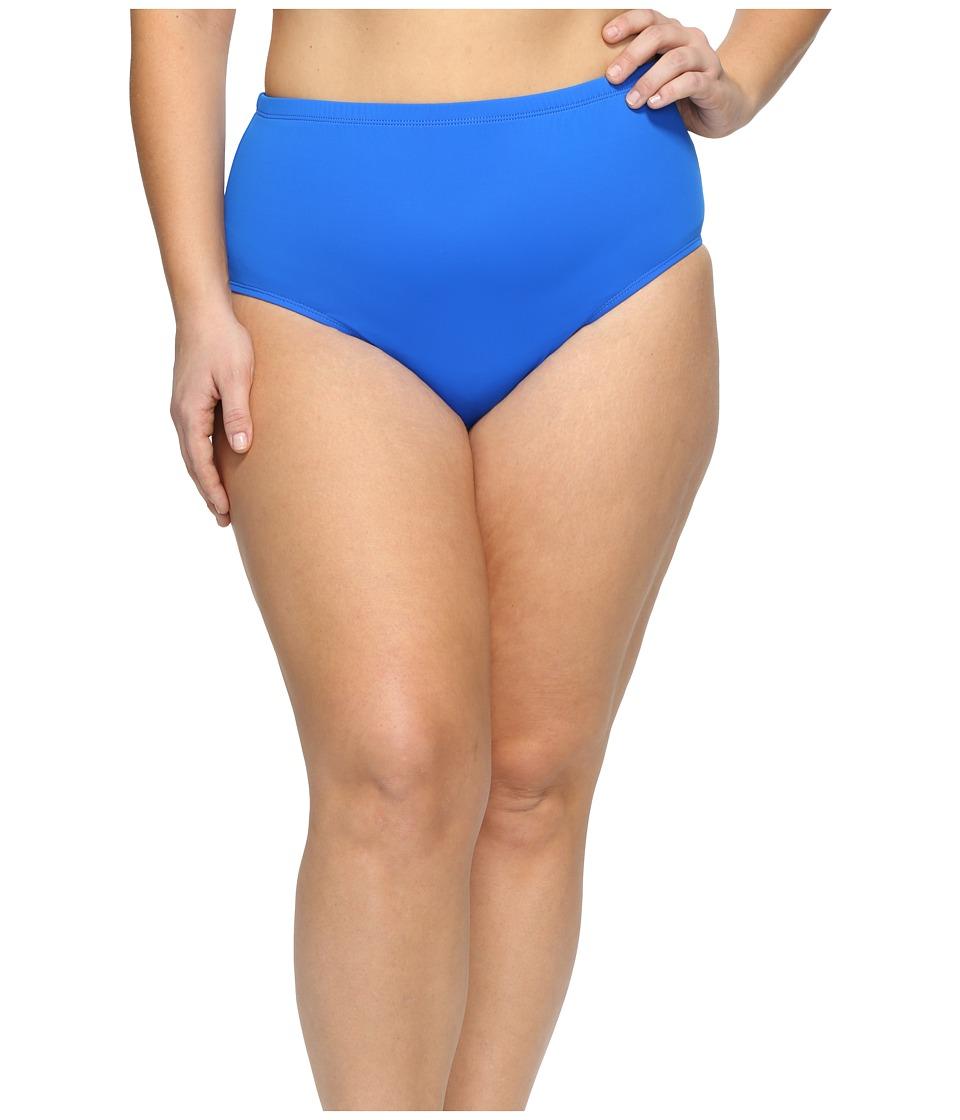 LAUREN Ralph Lauren Plus Size Beach Club Hipster Bottom (Blue) Women