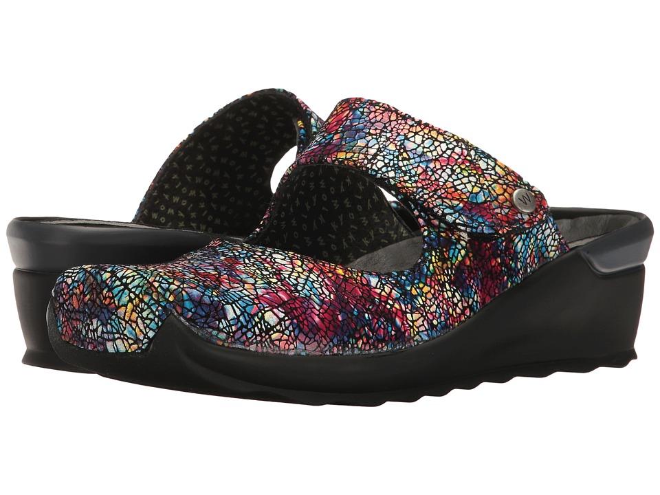Wolky Up (Multi Black Crash) Women's Clog/Mule Shoes