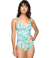 LAUREN Ralph Lauren - Carnival Paisley Shirred Mio One-Piece