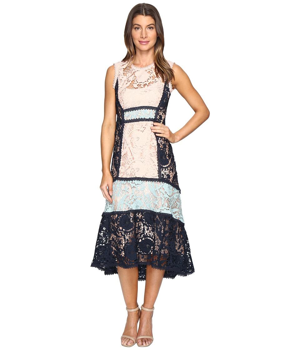 Nanette Lepore Baroque Lace Dress (Petal Navy) Women