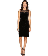 Ellen Tracy - Velvet Dress w/ Neckline Embellishment