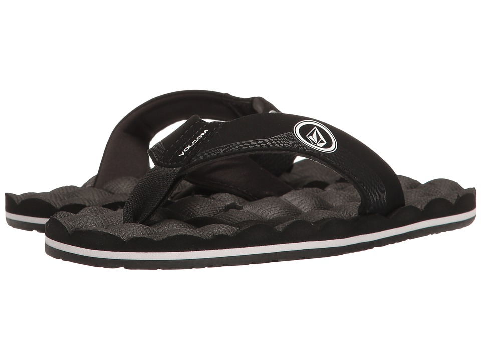 Volcom Kids Recliner (Little Kid/Big Kid) (Black/White) Boys Shoes