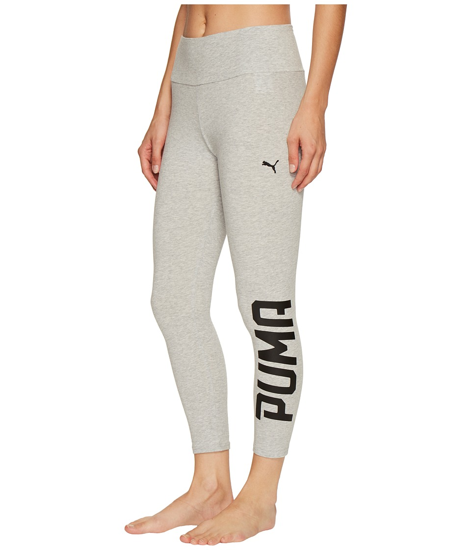 PUMA Style Swagger 3/4 Leggings (Light Gray Heather) Women