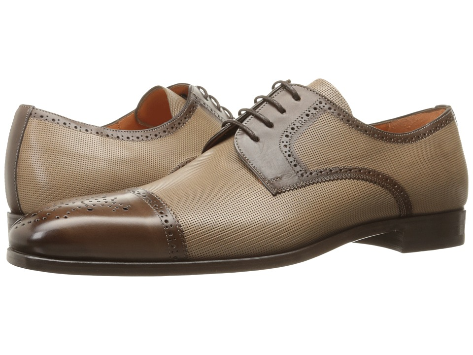 Mens Vintage Style Shoes| Retro Classic Shoes Mezlan - Moseley Dark BrownTaupe Mens Shoes $425.00 AT vintagedancer.com